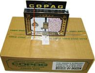 Copag 1546 Burgundy Green Poker SI Case - 12 sets