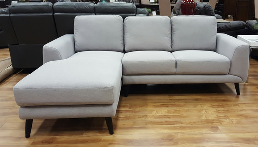 Comet LHF Sectional Grey Fabric