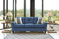 Hugo Fabric Sofa Blue