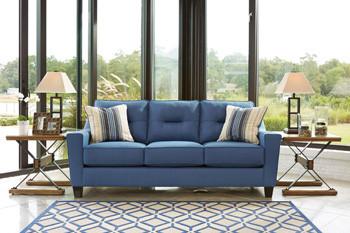 Hugo Fabric Sofa Blue