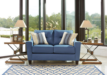 Hugo Fabric Love seat Blue