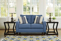 Ivy Fabric Love seat Blue