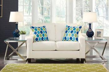 Ivy Fabric Love seat White