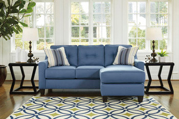 Ivy Fabric Reversible Sectional Blue