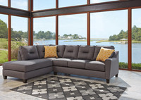 Sydney Left Facing Sectional Grey Fabric
