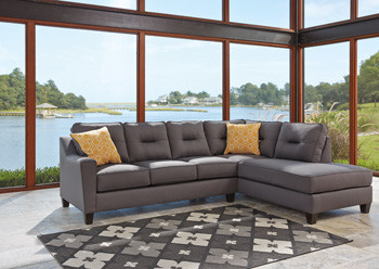 Sydney Right Facing Sectional Grey Fabric