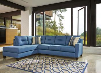Sydney Left Facing Queen Sofa Bed Blue Fabric