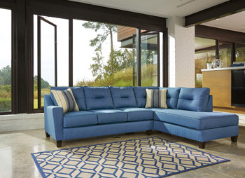 Sydney Right Facing Queen Sofa Bed Blue Fabric