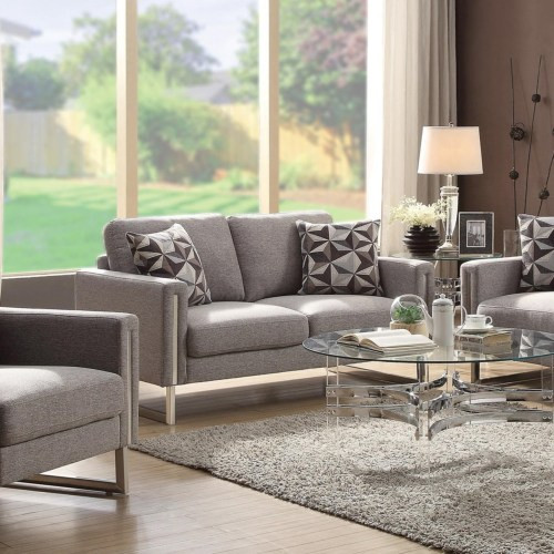 Astoria Fabric Love seat Grey