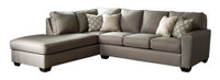 Grover Fabric Left Facing Sectional Grey