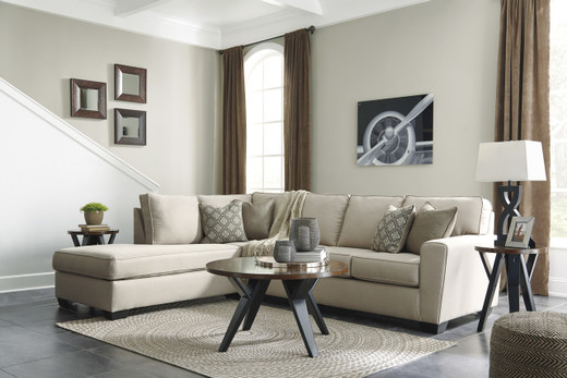 Grover Fabric Left Facing Sectional Beige