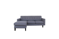 Kelso Reversible Sectional Grey
