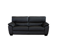 Milton Genuine Leather Sofa Black