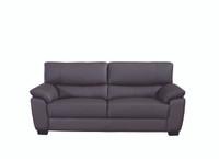 Milton Genuine Leather Sofa Brown
