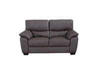 Milton Genuine Leather Loveseat Brown