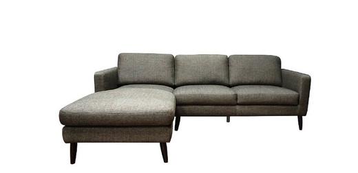 Ellen LHF Sectional Grey Fabric