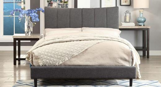 Kia Queen Bed Frame w/rails Grey