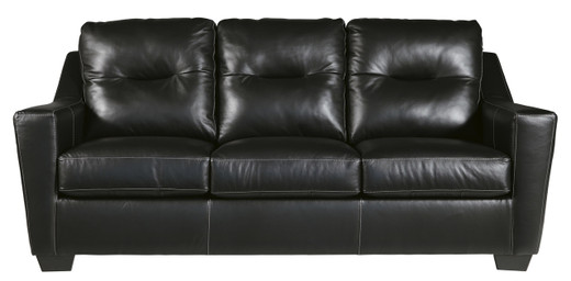 Dupree Genuine Leather Sofa Black