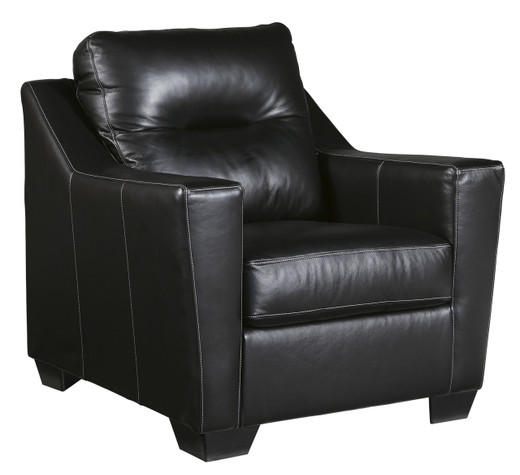 Dupree Genuine Leather Chair Black