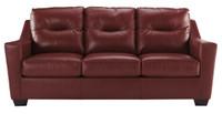 Dupree Genuine Leather Sofa Red