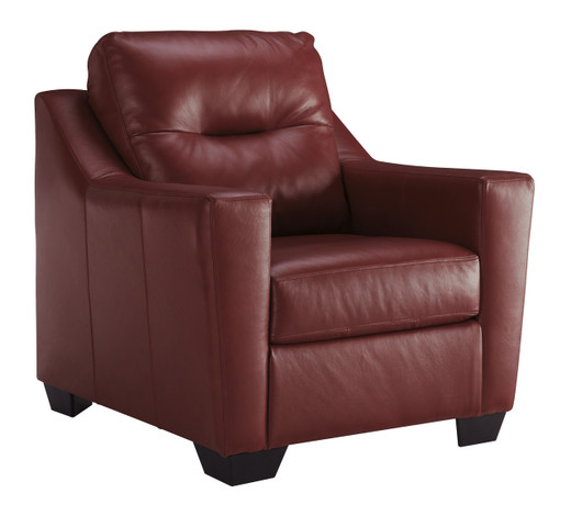 Dupree Genuine Leather Chair Red
