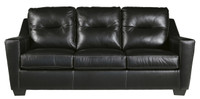 Dupree Genuine Leather Sofa Black