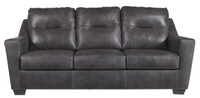 Dupree Genuine Leather Sofa Bed Grey