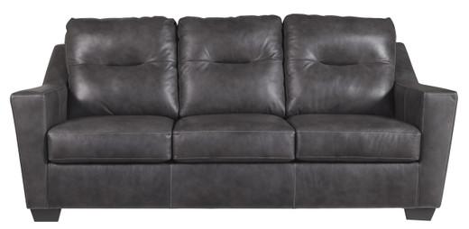 Dupree Genuine Leather Sofa Grey