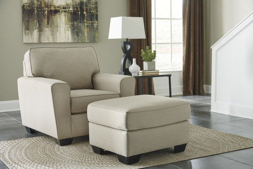Grover chair and ottoman Beige
