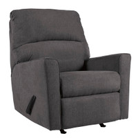 Perez Fabric Recliner Grey