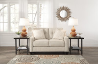 Ivy Fabric Love Seat Sand