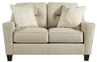 Hugo Fabric Loveseat Sand