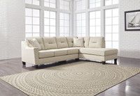 Sydney Right Facing Sectional Queen Sofa Bed Sand Fabric