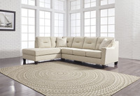 Sydney Left Facing Sectional Queen Sofa Bed Sand Fabric