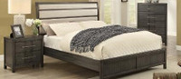 Sandra Queen Bed Frame w/rails Grey