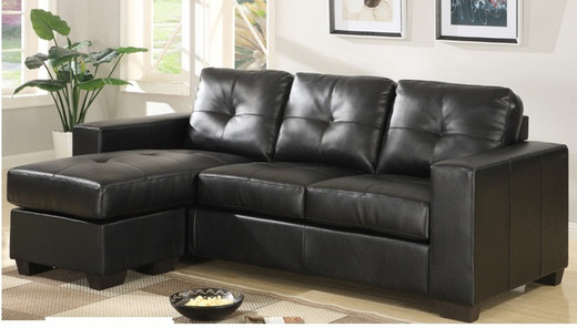 Lacey Sectional Sofa Black Reversible Chaise