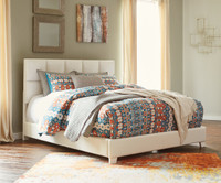Monica King Bed White