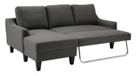 Tahoe LHF Sectional Sofa Bed Grey