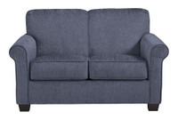 Orbit denim twin sofa bed with memory foam mattress