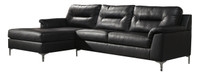 Adair Fabric Left Facing Sectional Black