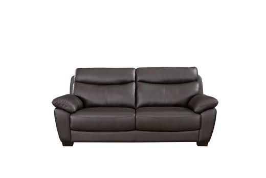 Evan Genuine Leather Sofa Brown