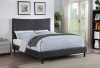 Plaza Queen Bed Frame w/Slats Grey