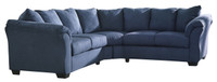Madison Fabric Corner Sofa Blue