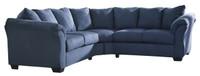 Madison Fabric Corner Sofa Blue