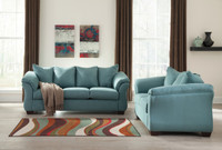 Madison Fabric Sofa & Love Seat Sky