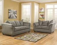 Madison Fabric Sofa & Love Seat Grey