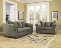 Madison Fabric Sofa & Love Seat Sage