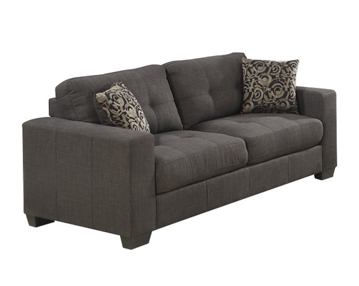Beau Lacey Sofa Or Couch In Grey Fabric