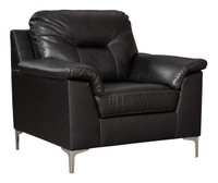 Adair Faux Leather Chair Black