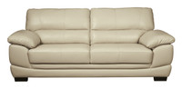 Zane Genuine Leather Sofa Cream